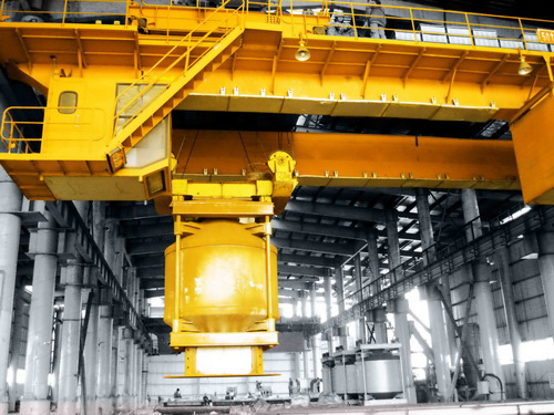 Intelligent metallurgical loading crane