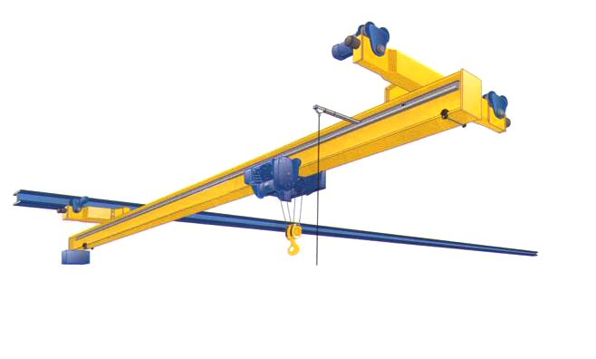 Low clearance suspension crane